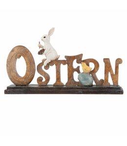 Ostern - Aufsteller mit Osterhasen