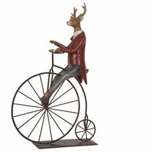 Wohnaccessoires Landhausstil Rentier auf Fahrrad