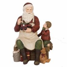 Wohnaccessoires Landhausstil Weihnachtsmann mit Junge