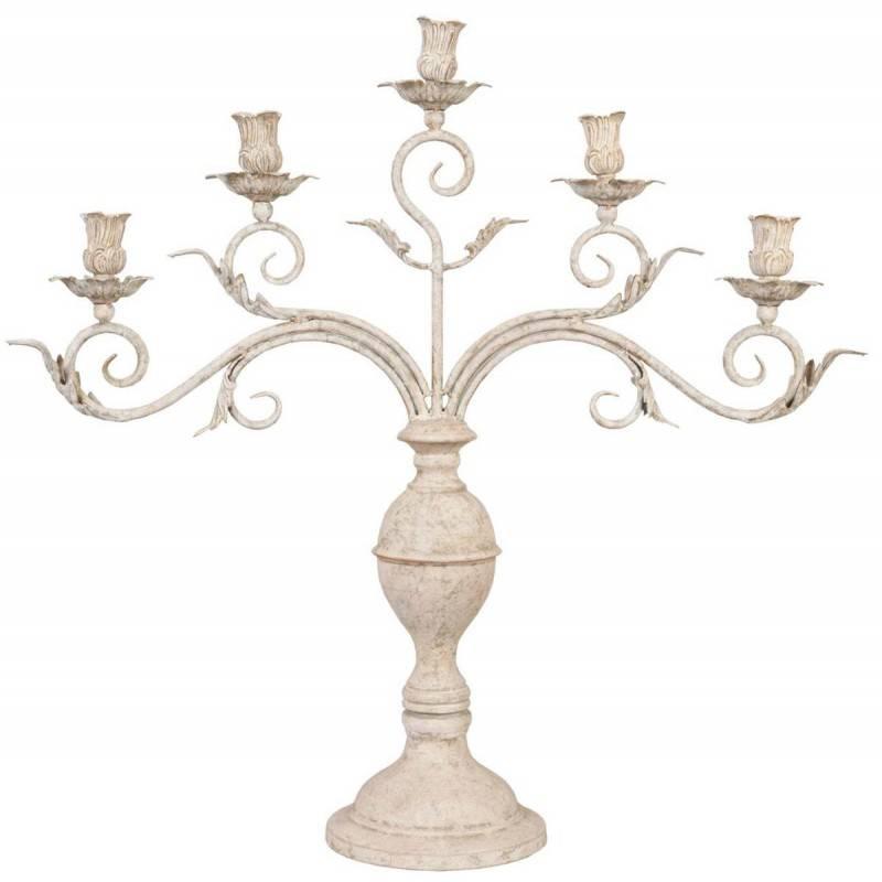 Wohnaccessoires Landhausstil Kerzenleuchter für 5 Kerzen