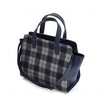 Tweedmill Handtasche Tweed dunkelbau