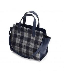 Handtasche Tweed dunkelbau