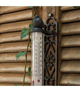 Gartenthermometer mit Spatz