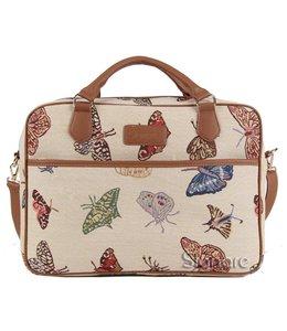 """Shabby Chic Businesstasche """"Schmetterlinge"""""""