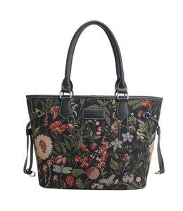 "Country Style Damenhandtasche ""Morning Garden"" schwarz"
