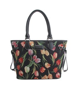 "Damenhandtasche ""Tulpen"" schwarz"