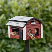 Wildlife Garden Futterscheune für Vögel, rot