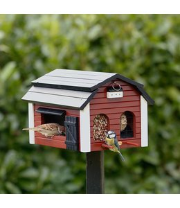 Garten Futterscheune für Vögel, rot