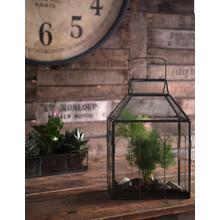 Wohnaccessoires Landhausstil Glashaus für Zimmerpflanzen