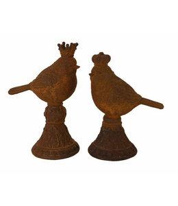 Vogelpärchen: Königin und König