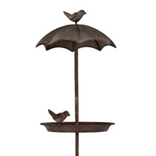Villa Jähn Garten Kollektion Vogelbad aus Metall zum Stecken in den Gartenboden