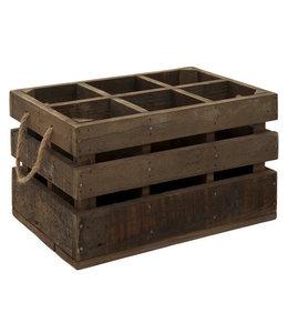 Weinkisten Landhausstil Rustikale Weinkiste aus Holz