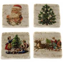 """Wohnaccessoires Landhausstil Glasuntersetzer Keramik """"Weihnachten im Landhaus"""""""