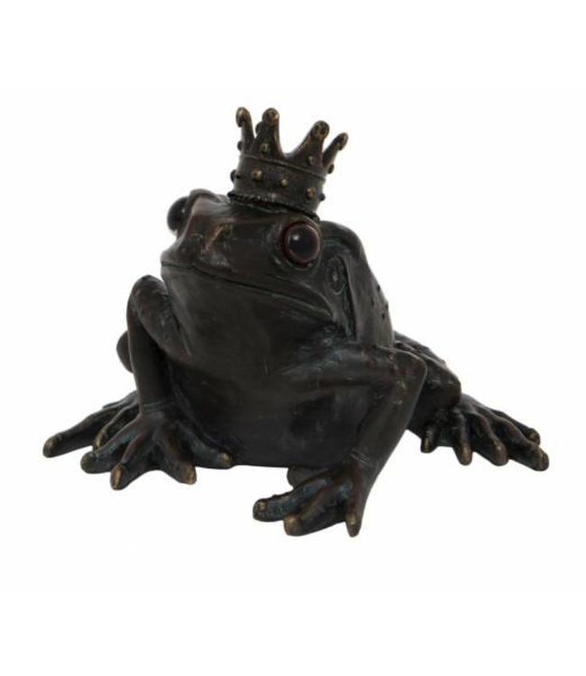 Frosch mit krone sch ne deko am gartenteich villa j hn for Gartenteich deko