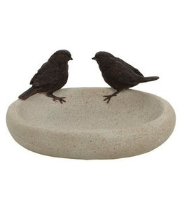Garten Vogeltränke mit Spatzen ♥ Landhausstil