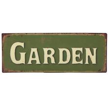 """Villa Jähn Garten Kollektion Dekoschild """"Garden"""" für englische Garten-Fans"""