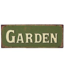 """Garten Dekoschild """"Garden"""" für englische Garten-Fans"""