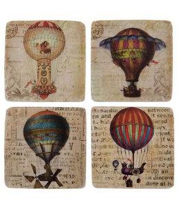 "Glasuntersetzer ""Heißluftballons"" Keramik, 4er-Set"