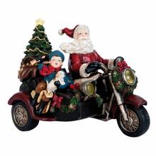 Villa Jähn Landhaus Kollektion Weihnachtsmann auf dem Motorrad