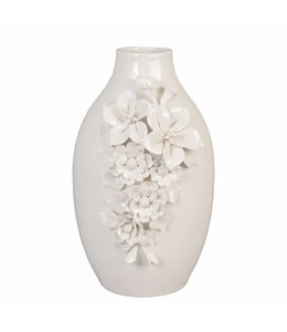 Landhaus Blumenvase Porzellan