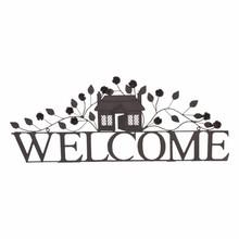 """Villa Jähn Landhaus Kollektion Türschild """"Welcome"""" aus Eisen"""