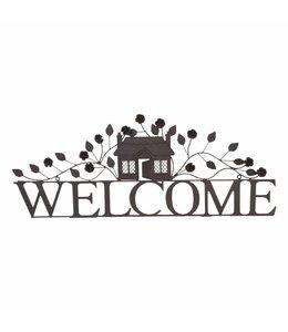 """Landhaus Türschild """"Welcome"""" aus Eisen"""
