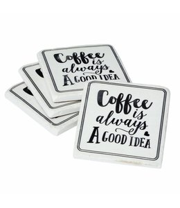 Shabby Chic Untersetzer für Kaffeetassen, 4er-Set