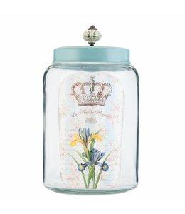 Landhausstil Vorratsglas mit blauem Deckel für die Landhausküche