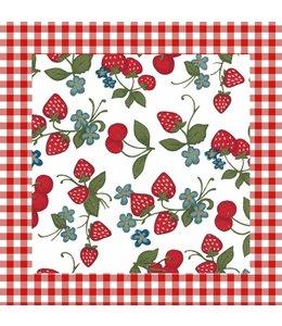 """Landhausstil Servietten """"Erdbeeren & Kirschen"""""""