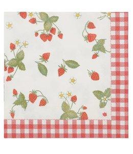 """Landhausstil Papierservietten """"Erdbeeren"""""""