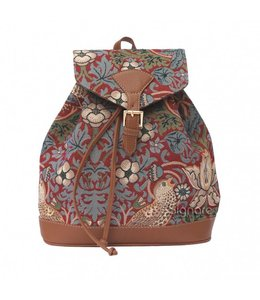"Shabby Chic Rucksack ""Strawberry Thief Red"""