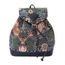 "Signare Rucksack ""Strawberry Thief Blue"""