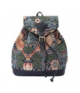 "Shabby Chic Rucksack ""Strawberry Thief Blue"""