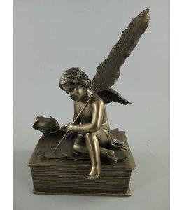 Landhausstil Schale mit Engel