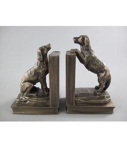 Buchstützen Hunde im englischen Landhausstil