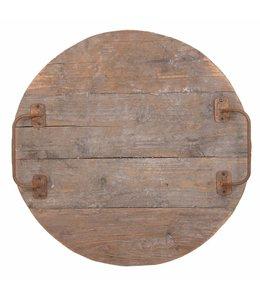 Rustikales Holztablett rund