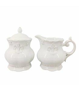 """Milchkännchen & Zuckerdose """"Französische Lilie"""""""