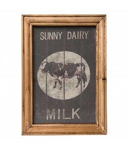 """Shabby Chic Wandbild """"Sunny Dairy Milk"""" im englischen Landhausstil"""