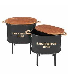 """Shabby Chic Beistelltische """"Amsterdam 1968"""" 2er-Set"""