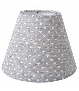 Landhaus Lampenschirm mit kleinen Herzchen