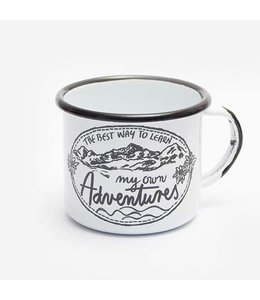 """Shabby Chic Emaille Becher """"Adventures"""""""