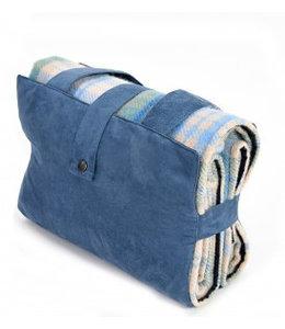 """Tweedmill Englische Picknickdecke Ascot """"Cottage Blue"""""""