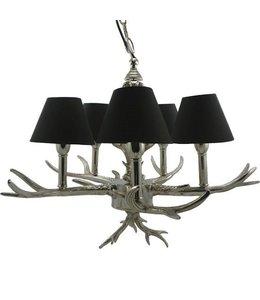 Landhaus Deckenlampe mit Geweih, silber