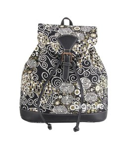 "Country-Style Rucksack ""Klimt Black & White"""
