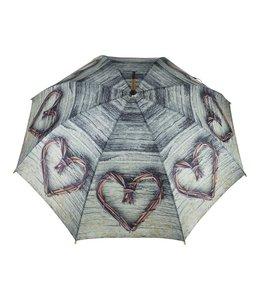 Regenschirme Regenschirm mit Teakholz-Zweigen in Herzform
