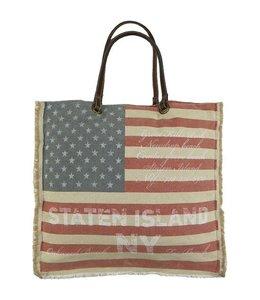"Shabby Chic Vintage Tasche ""Stars & Stripes"""