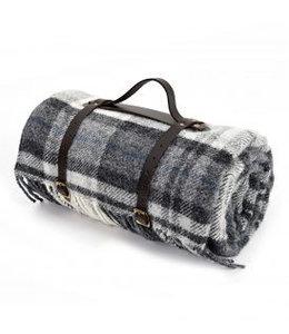 "Tweedmill Picknickdecke Polo mit Leder-Trageset ""Cottage Grey"""