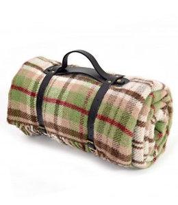"""Picknickdecke Polo mit Leder-Trageset """"Cottage Rural"""""""