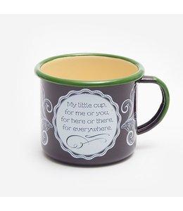 Garten Kaffeebecher Emaille