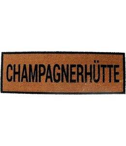 "Landhaus Fußmatte ""Champagnerhütte"""